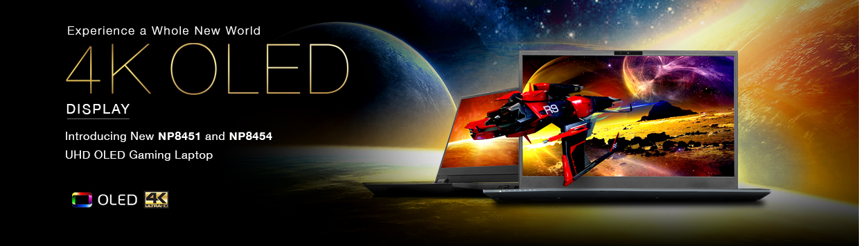 Introducing New Sager 4K OLED Display Gaming Laptops