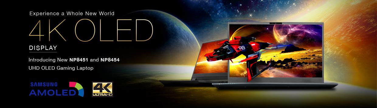 Introducing New NP8451 & NP8454 UHD OLED Gaming Laptop