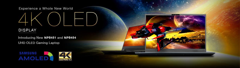 Introducing New Sager 4K OLED Display Gaming Laptops