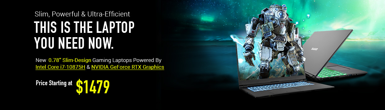 Slim Design Gaming Notebooks Powered By NVIDIA GeForce RTX Graphics