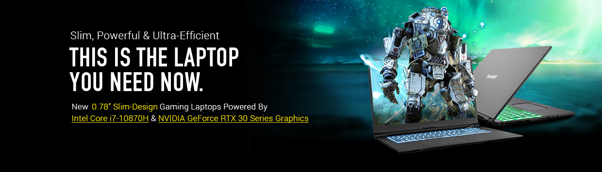 Slim Design Gaming Notebooks Powered By NVIDIA GeForce RTX 30 Series Graphics