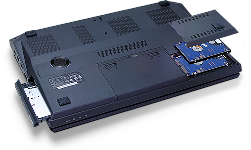 One Optical Drive & Two hard Drives Coexisting Capable