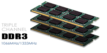 Triple Channel DDR3 System Memory