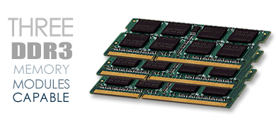 Three DDR3 Memory Modules Capable