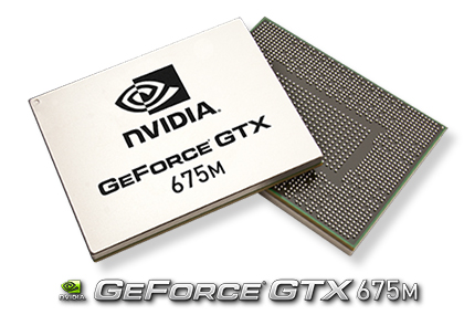 Powered by NVIDIA GeForce GTX 675M GPU