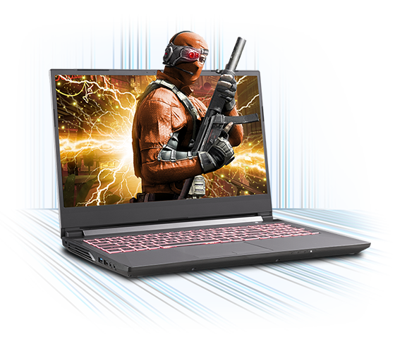 Sager NP6858CQ Gaming Laptop