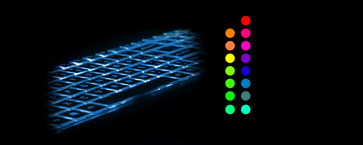 Customizable Single Color Illuminated Keyboard